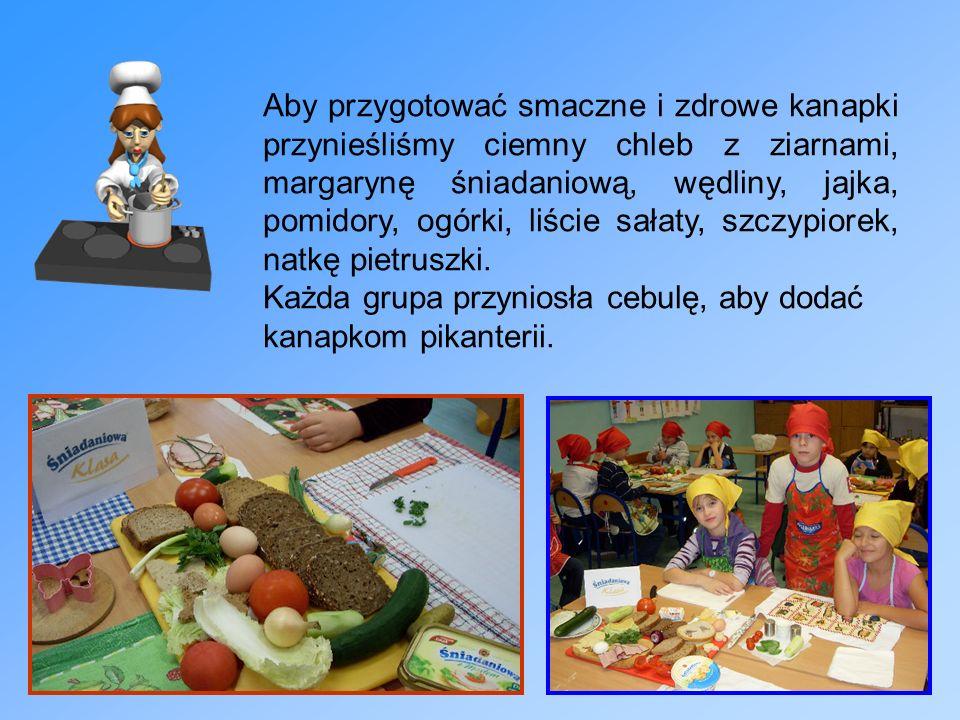 Aby przygotować smaczne i zdrowe kanapki przynieśliśmy ciemny chleb z ziarnami, margarynę śniadaniową, wędliny, jajka, pomidory, ogórki, liście sałaty