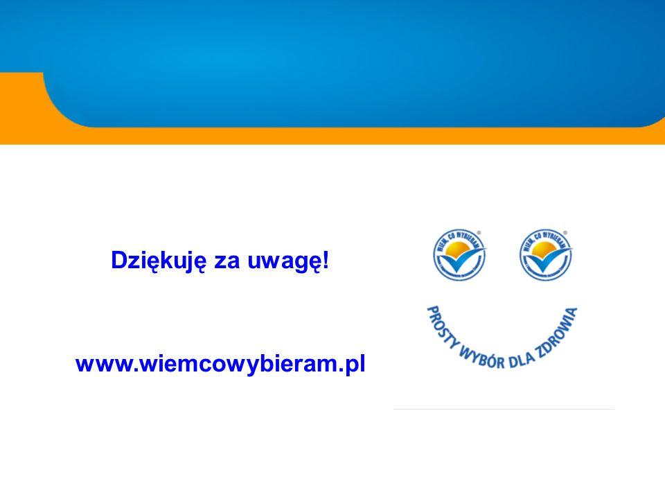 Dziękuję za uwagę! www.wiemcowybieram.pl