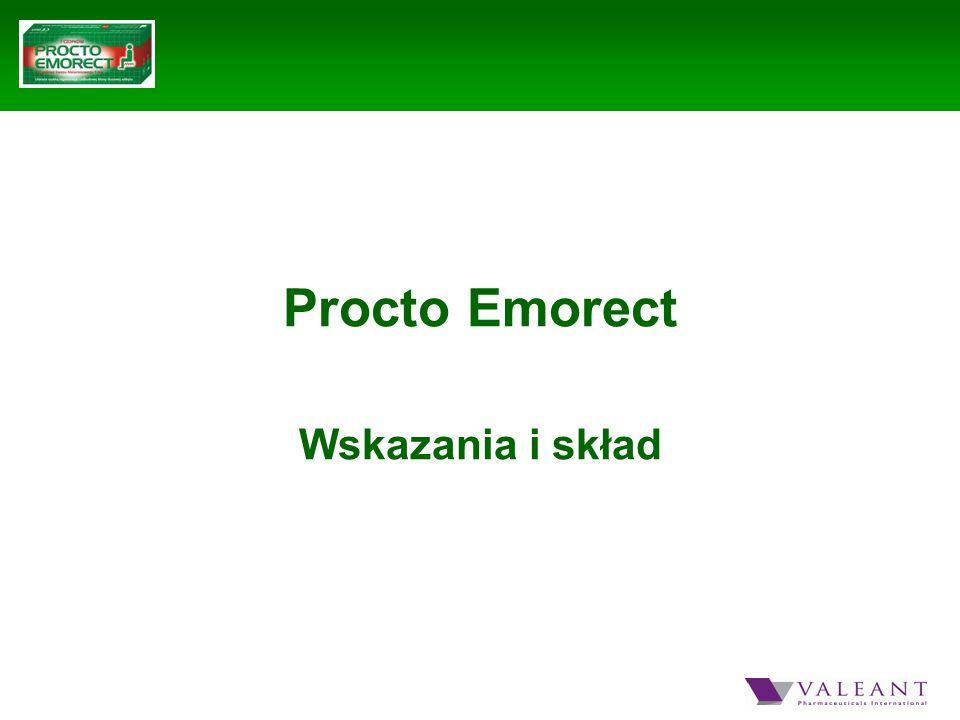 Procto Emorect Wskazania i skład