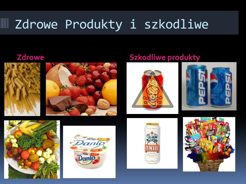 Zdrowe Produkty i szkodliwe ZdroweSzkodliwe produkty