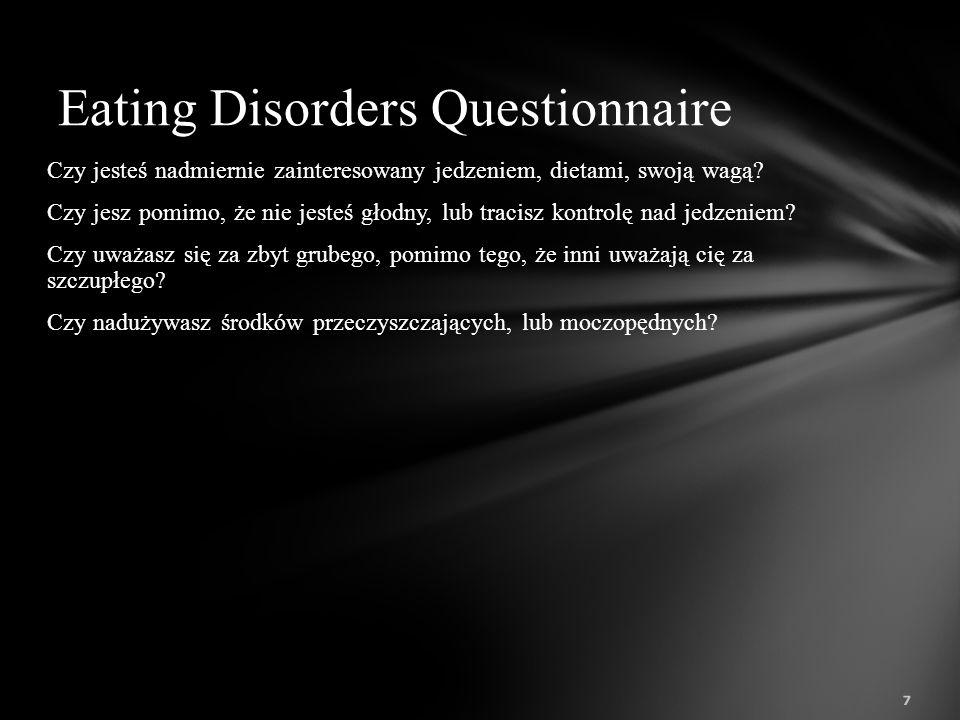 Jest to zaburzenie zbliżone do bulimii, ale różniące się od niego: rzadkością stosowania wymiotów, głodówek i środków 47 Co to jest kompulsywne objadanie się (termin angielski – binge eating disorder)?