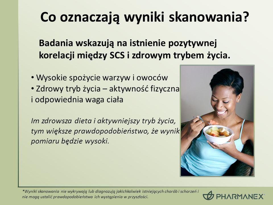 Wysokie spożycie warzyw i owoców Zdrowy tryb życia – aktywność fizyczna i odpowiednia waga ciała Im zdrowsza dieta i aktywniejszy tryb życia, tym więk