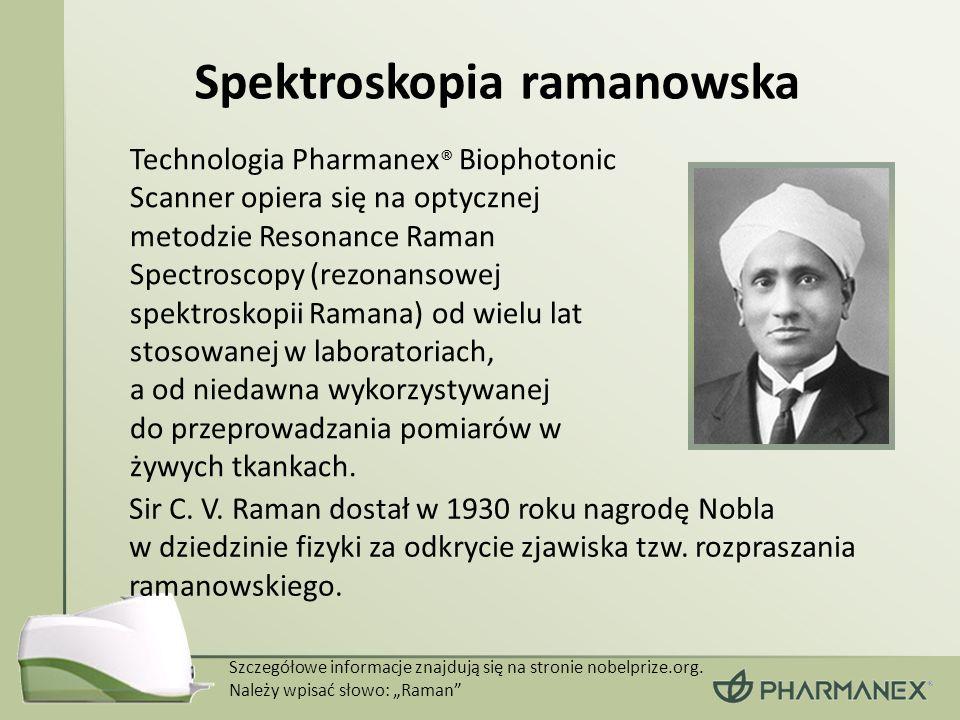 Spektroskopia ramanowska Sir C. V. Raman dostał w 1930 roku nagrodę Nobla w dziedzinie fizyki za odkrycie zjawiska tzw. rozpraszania ramanowskiego. Te