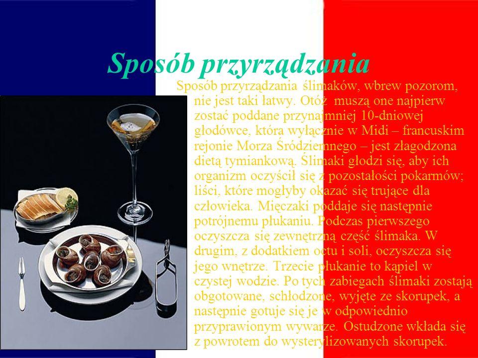 Skąd Francuzi biorą ślimaki? Ponieważ rodzima populacja ślimaka winniczka (u dołu) została znacznie przetrzebiona, Francuzi muszą eksportować ślimaki