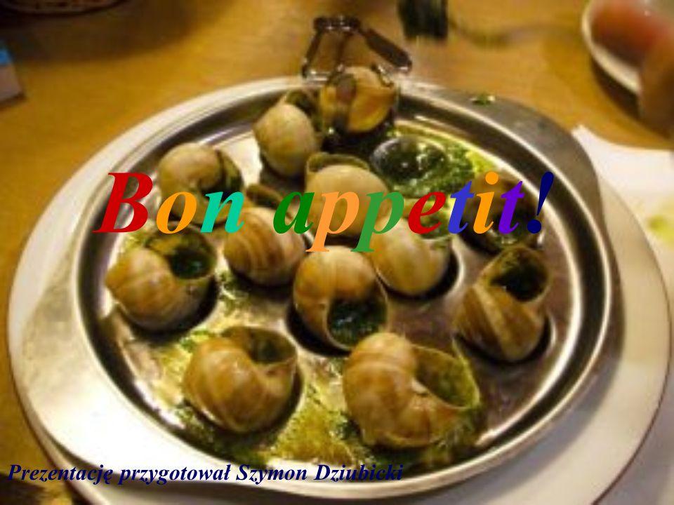Ślimaki po burgundzku składniki 60-80 potrójnie wypłukanych ślimaków po głodówce 2 szczypty soli Sos: 75 ml wody 750 ml białego wina burgundzkiego 1 n