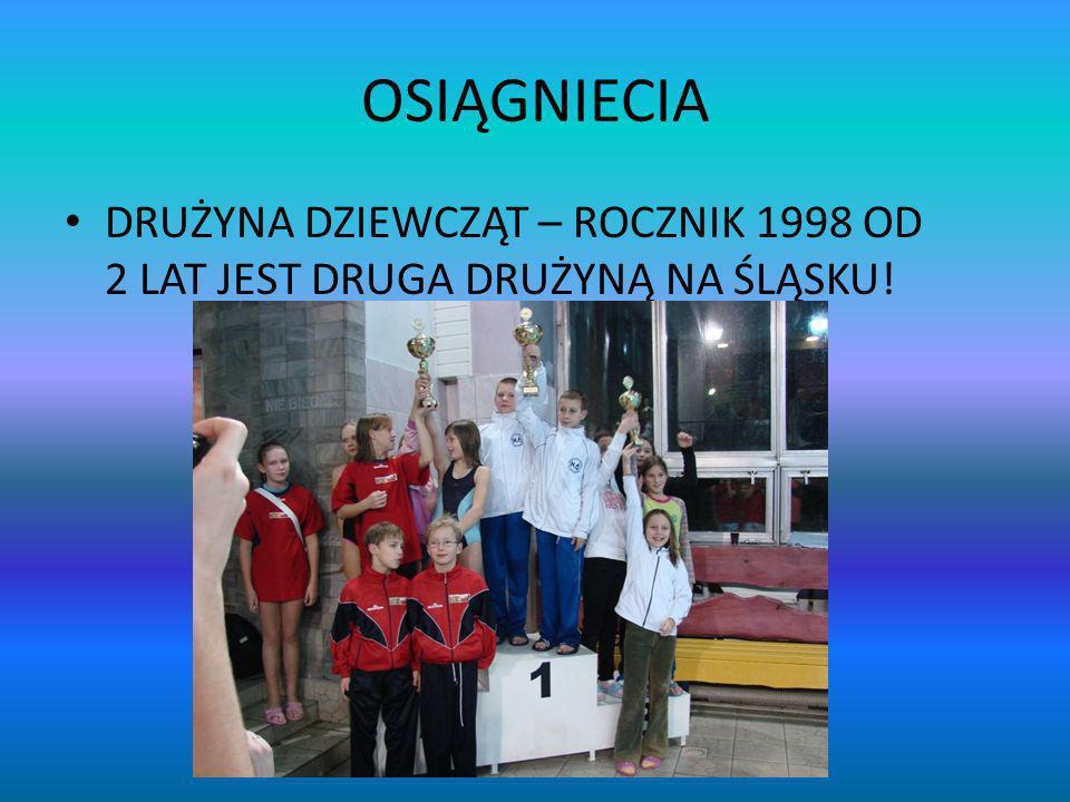 OSIĄGNIECIA DRUŻYNA DZIEWCZĄT – ROCZNIK 1998 OD 2 LAT JEST DRUGA DRUŻYNĄ NA ŚLĄSKU!