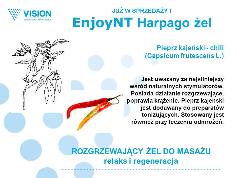 ROZGRZEWAJĄCY ŻEL DO MASAŻU relaks i regeneracja Pieprz kajeński - chili (Capsicum frutescens L.) Jest uważany za najsilniejszy wśród naturalnych stym