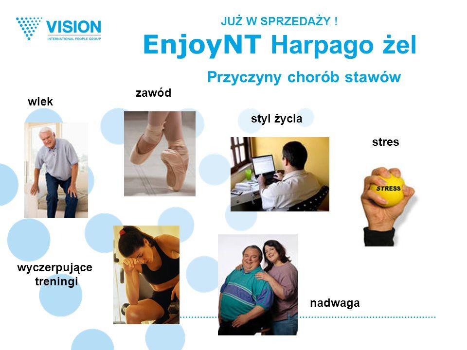 Przyczyny chorób stawów wiek styl życia zawód stres nadwaga wyczerpujące treningi JUŻ W SPRZEDAŻY ! EnjoyNT Harpago żel