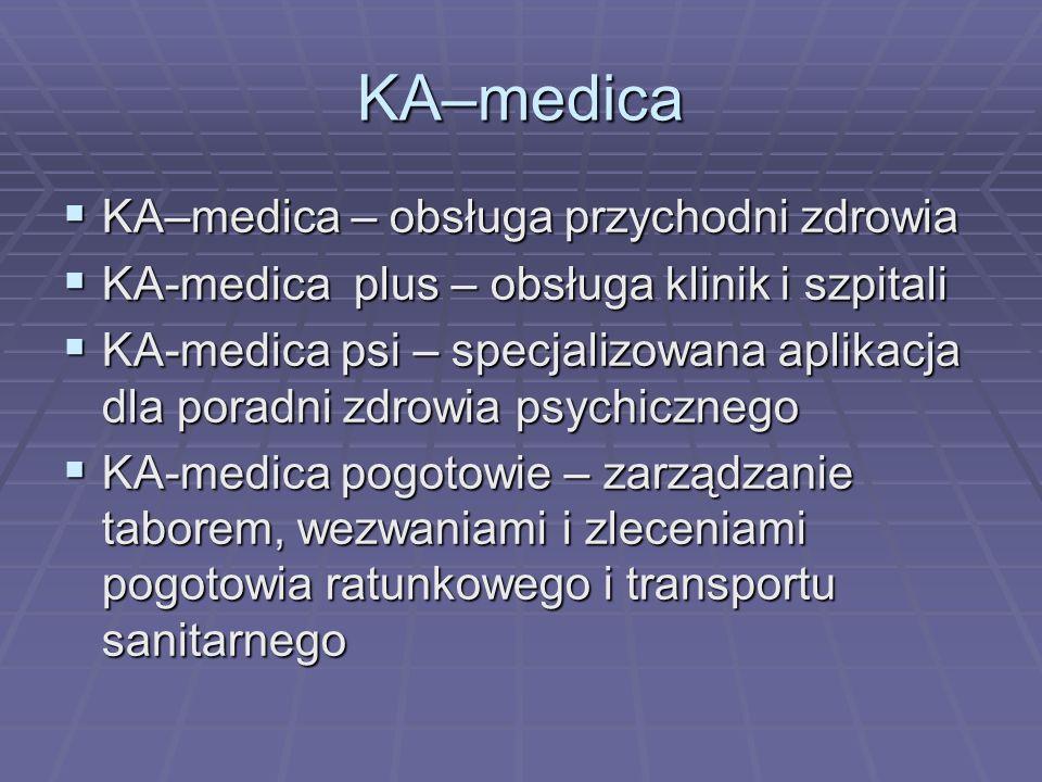 KA–medica – obsługa przychodni zdrowia KA–medica – obsługa przychodni zdrowia KA-medica plus – obsługa klinik i szpitali KA-medica plus – obsługa klin