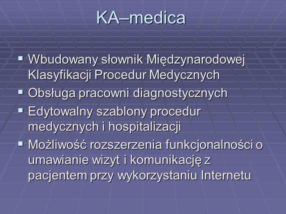 Wbudowany słownik Międzynarodowej Klasyfikacji Procedur Medycznych Wbudowany słownik Międzynarodowej Klasyfikacji Procedur Medycznych Obsługa pracowni