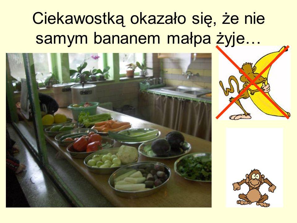 Ciekawostką okazało się, że nie samym bananem małpa żyje…