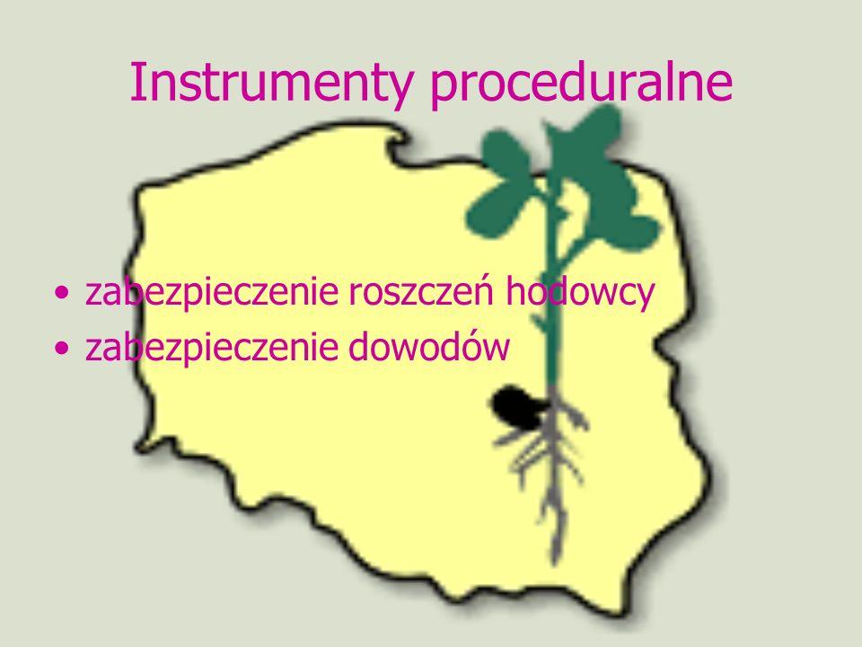 Instrumenty proceduralne zabezpieczenie roszczeń hodowcy zabezpieczenie dowodów