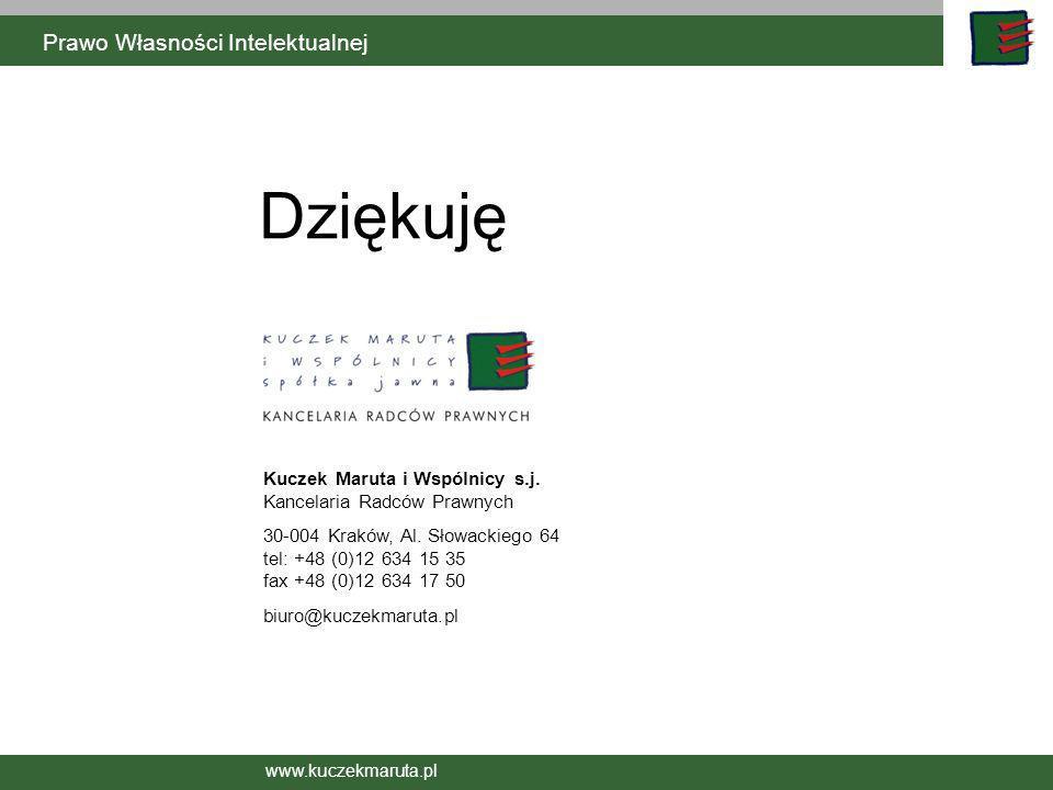 www.kuczekmaruta.pl © Kuczek Maruta i Wspólnicy Sp. j. Kuczek Maruta i Wspólnicy s.j. Kancelaria Radców Prawnych 30-004 Kraków, Al. Słowackiego 64 tel