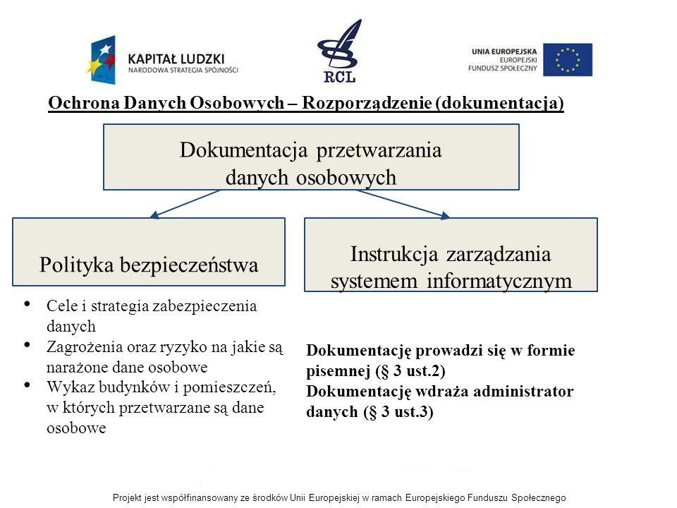 Ochrona Danych Osobowych – Rozporządzenie (dokumentacja) Cele i strategia zabezpieczenia danych Zagrożenia oraz ryzyko na jakie są narażone dane osobo