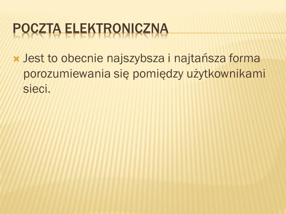 Możliwość założenia bezpłatnego konta pocztowego oferuje również większość polskich portali.