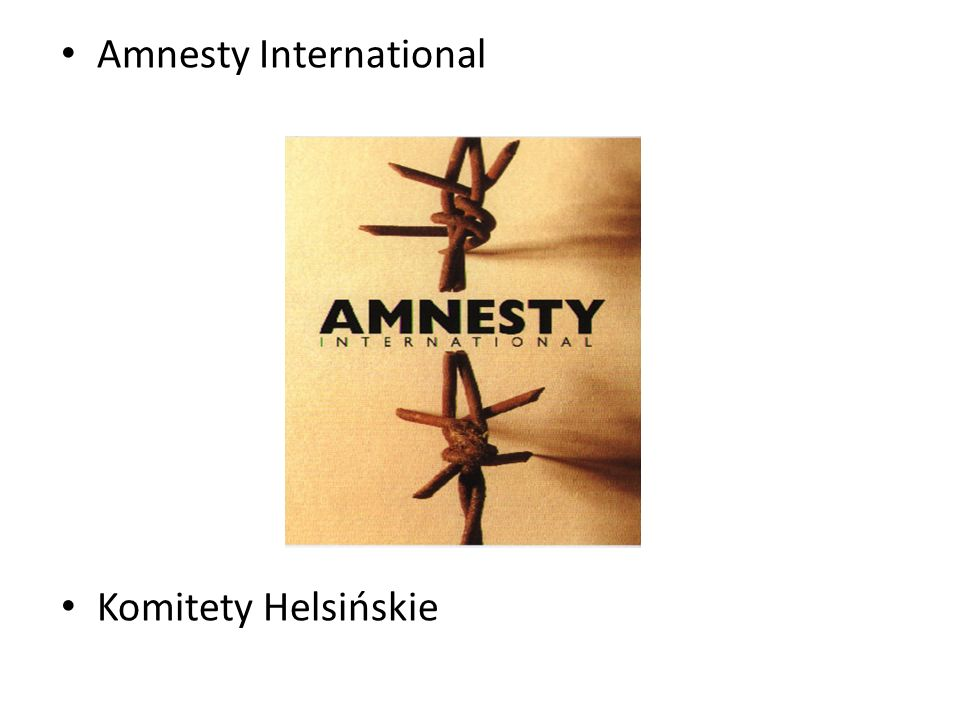 Amnesty International Komitety Helsińskie