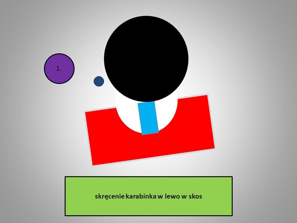 przesunięcie muszki w lewo od środka szczerbiny (muszka lewa); 3.