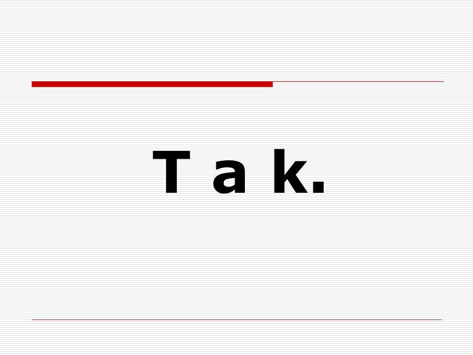 używaj otwarcie słów TAK i NIE.