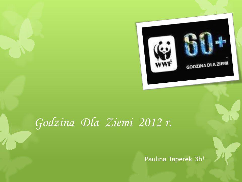 Godzina Dla Ziemi 2012 r. Paulina Taperek 3h 1