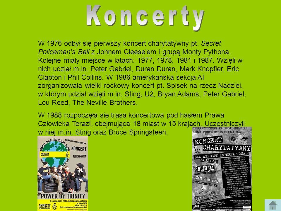 W 1976 odbył się pierwszy koncert charytatywny pt. Secret Policemans Ball z Johnem Cleeseem i grupą Monty Pythona. Kolejne miały miejsce w latach: 197