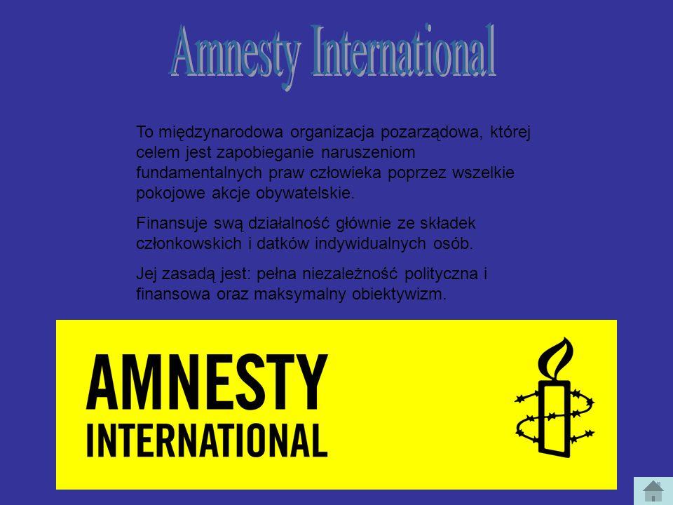 To międzynarodowa organizacja pozarządowa, której celem jest zapobieganie naruszeniom fundamentalnych praw człowieka poprzez wszelkie pokojowe akcje o