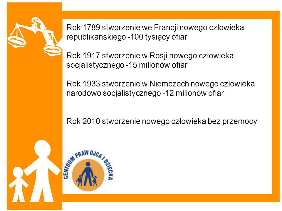 Rok 1789 stworzenie we Francji nowego człowieka republikańskiego -100 tysięcy ofiar Rok 1917 stworzenie w Rosji nowego człowieka socjalistycznego -15