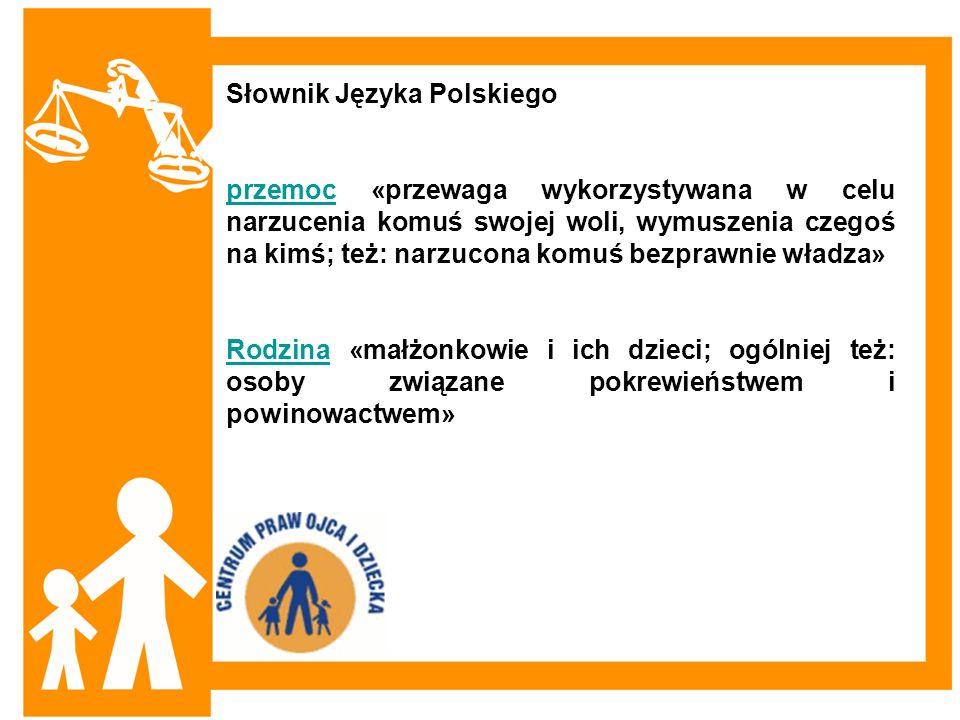Słownik Języka Polskiego przemocprzemoc «przewaga wykorzystywana w celu narzucenia komuś swojej woli, wymuszenia czegoś na kimś; też: narzucona komuś