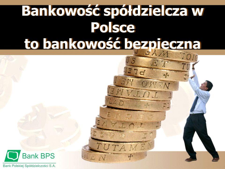 Bankowość spółdzielcza w Polsce to bankowość bezpieczna Bankowość spółdzielcza w Polsce to bankowość bezpieczna