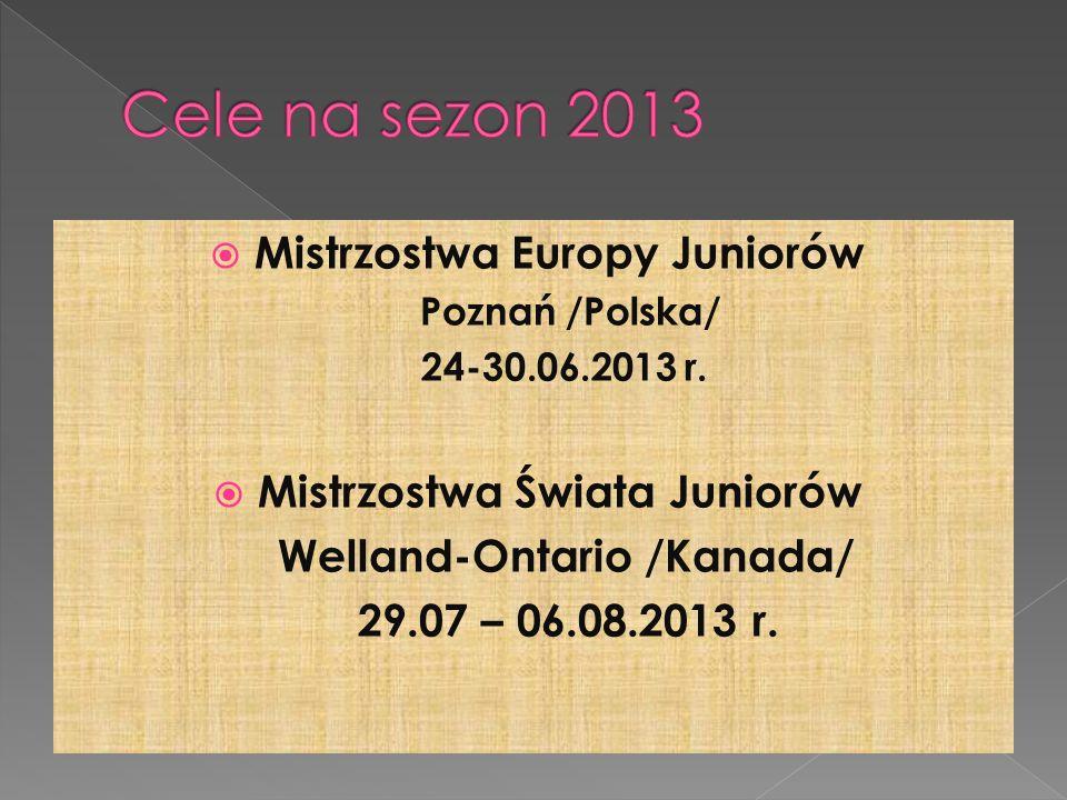 Mistrzostwa Europy Juniorów Poznań /Polska/ 24-30.06.2013 r.