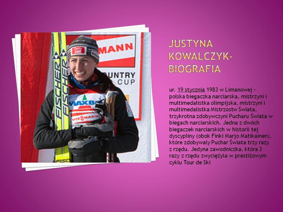 ur. 19 stycznia 1983 w Limanowej – polska biegaczka narciarska, mistrzyni i multimedalistka olimpijska, mistrzyni i multimedalistka Mistrzostw Świata,