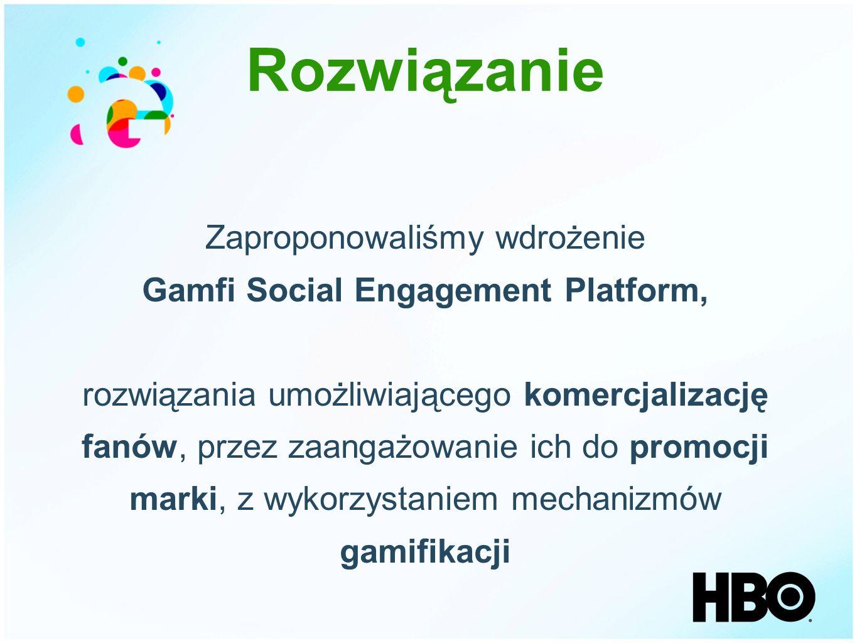 Zaproponowaliśmy wdrożenie Gamfi Social Engagement Platform, rozwiązania umożliwiającego komercjalizację fanów, przez zaangażowanie ich do promocji ma