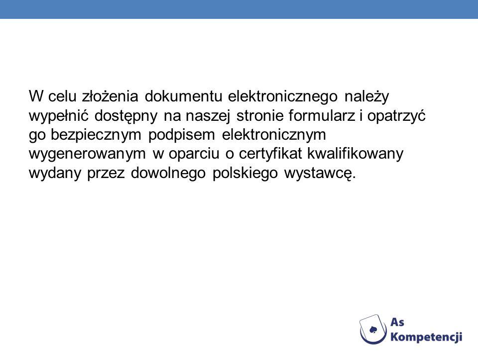 Elektroniczny Urząd Podawczy - Powiatowy Urząd Pracy w Kołobrzegu Zgodnie z Ustawą o informatyzacji podmiotów realizujących zadania publiczne DzU 2005