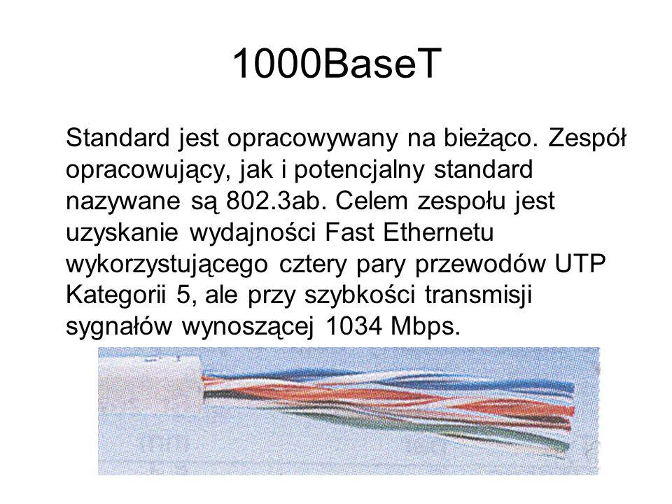 1000BaseT Standard jest opracowywany na bieżąco. Zespół opracowujący, jak i potencjalny standard nazywane są 802.3ab. Celem zespołu jest uzyskanie wyd