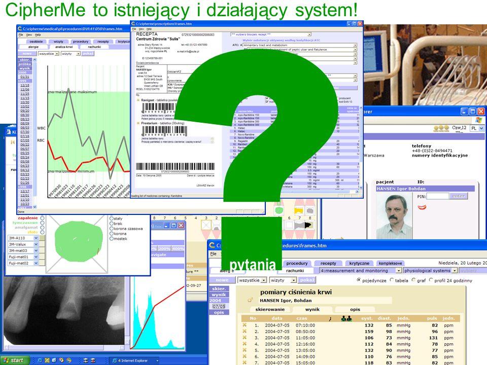 ? pytania CipherMe to istniejący i działający system!