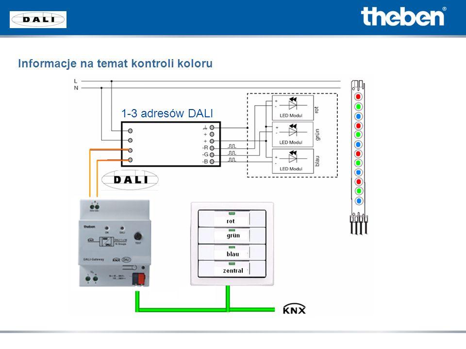 1-3 adresów DALI Informacje na temat kontroli koloru