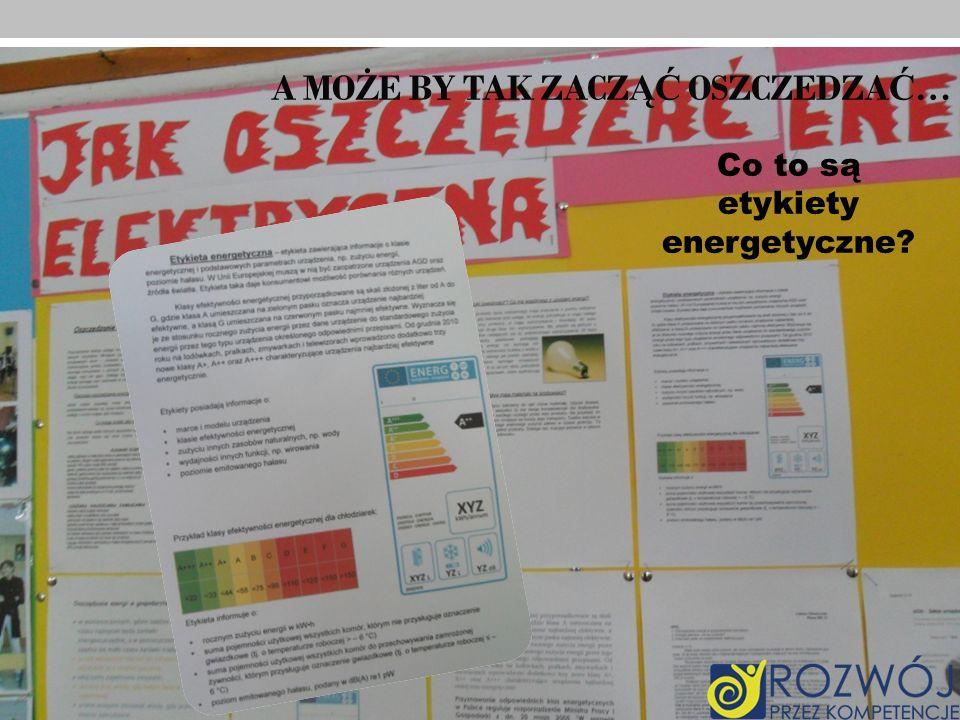 Co to są etykiety energetyczne?