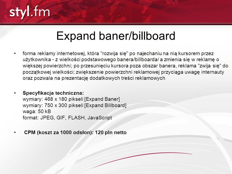Expand baner/billboard forma reklamy internetowej, która