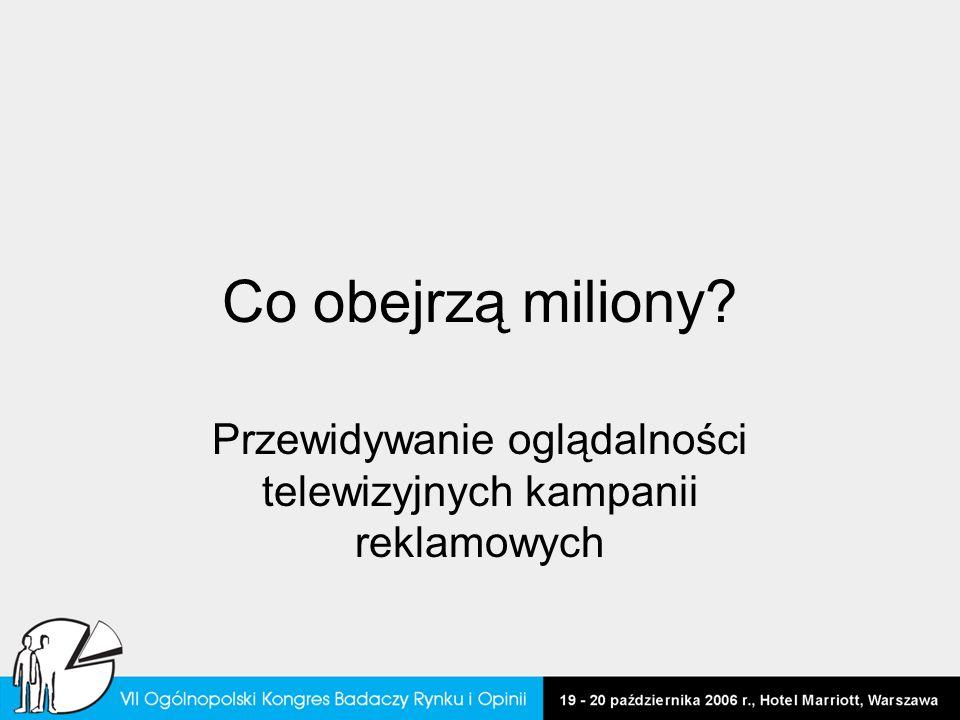 Co obejrzą miliony? Przewidywanie oglądalności telewizyjnych kampanii reklamowych