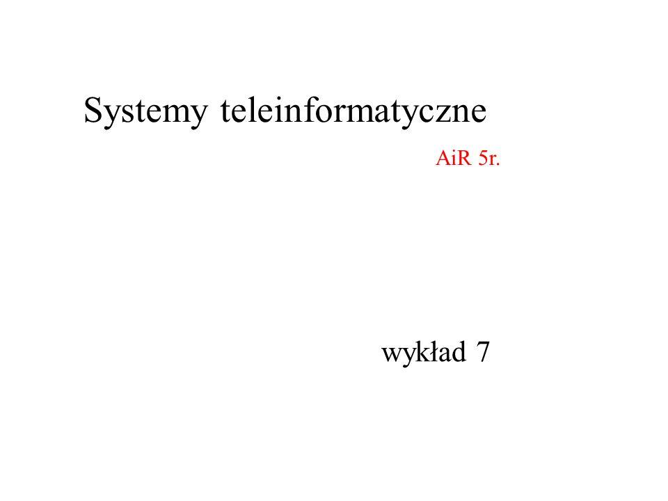 wykład 7 Systemy teleinformatyczne AiR 5r.