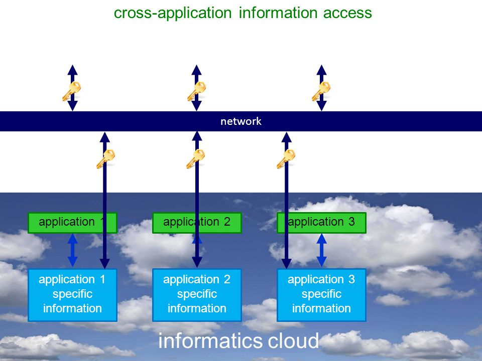 Hansen Networks application 1 informatics cloud application 1 specific information application 2 specific information application 3 specific information network cross-application information access