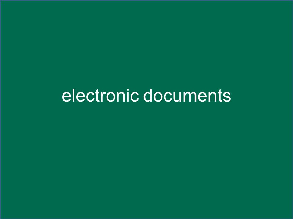 electronic documents