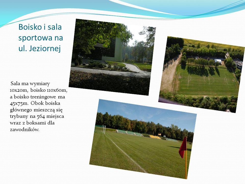 Sala ma wymiary 10x20m, boisko 110x60m, a boisko treningowe ma 45x75m. Obok boiska głównego mieszczą się trybuny na 564 miejsca wraz z boksami dla zaw
