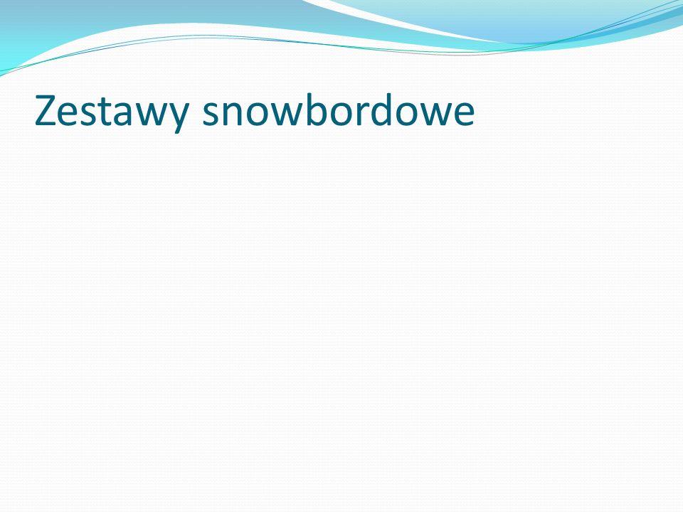 Zestawy snowbordowe