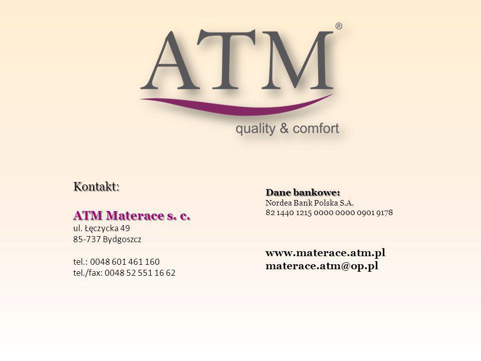 Kontakt: ATM Materace s.c. ul.