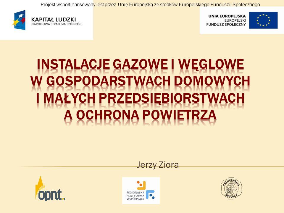 Jerzy Ziora Projekt współfinansowany jest przez Unię Europejską ze środków Europejskiego Funduszu Społecznego