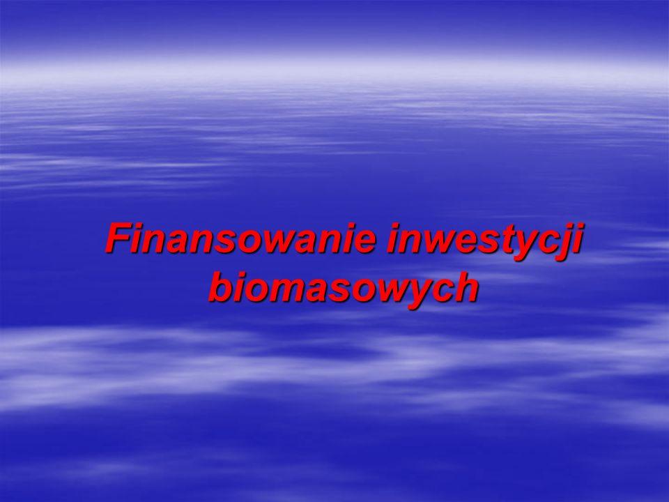 Finansowanie inwestycji biomasowych