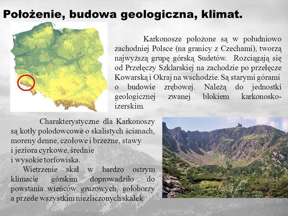 Najwyższym szczytem Karkonoszy jest Śnieżka (1602 m n.