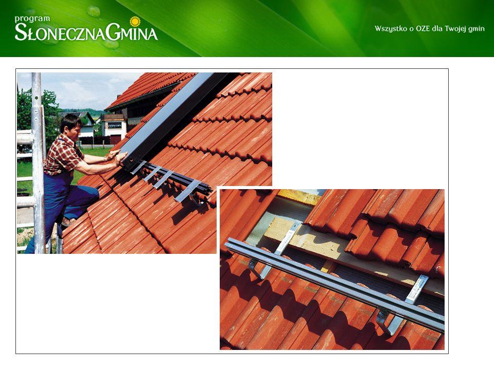 Montaż kolektorów na dachu skośnym