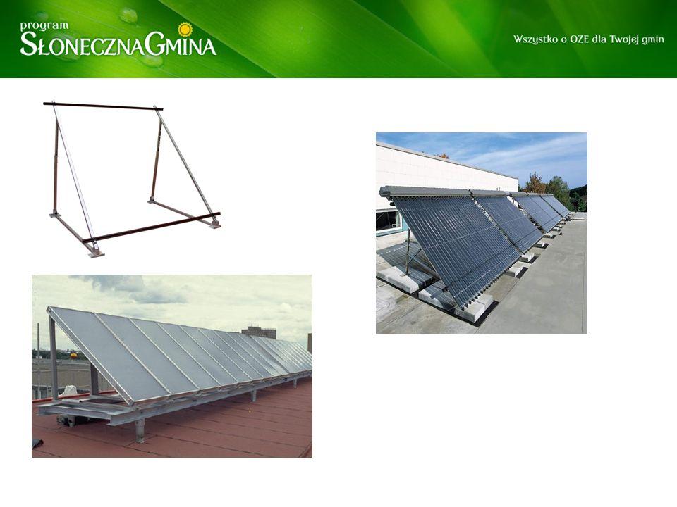 Montaż kolektorów na dachu płaskim