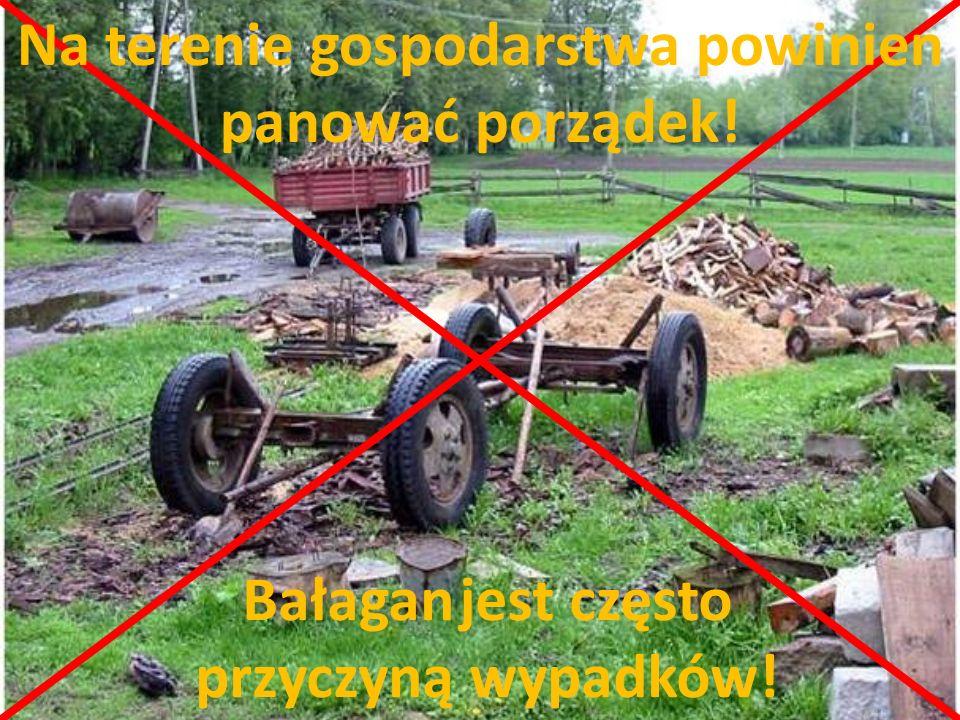 Na terenie gospodarstwa powinien panować porządek! Bałagan jest często przyczyną wypadków!